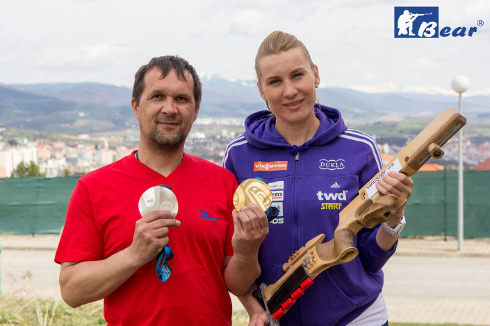 Anastasiya Kuzmina a Ján Medveď